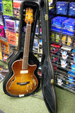 Crafter SAT-TMVS semi acoustic guitar with Crafter hard case