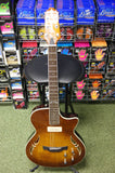 Crafter SAT-TMVS semi acoustic guitar with hard case (Made in Korea)