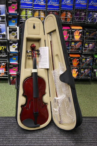 Antoni debut violin set in wine red finish