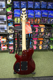 Vintage VH51FR electric guitar in trans red finish
