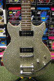 Aria Pro II PE electric guitar with bigsby in silver flake - S/H