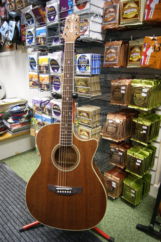 Crafter TE6MH/BR Mahogany Electro Acoustic guitar & bag
