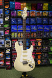 Memphis strat style guitar in olympic white S/H