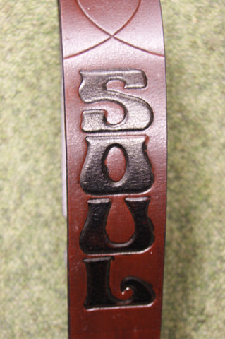 Guitar strap leather natural DTC1 by Onori