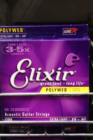 Elixir 11000 Polyweb 10-47 acoustic guitar strings extra light