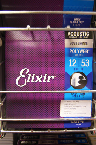 Elixir 11050 Polyweb coated 12-53 light acoustic guitar strings