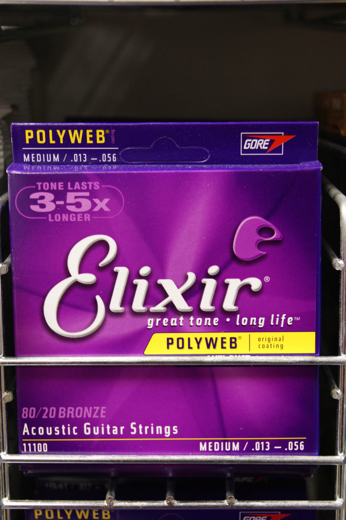 Elixir 11100 Polyweb 13-56 acoustic guitar strings - medium (2 PACKS)