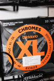 D'Addario ECG23 flatwound XL Chromes 10-48 electric guitar strings