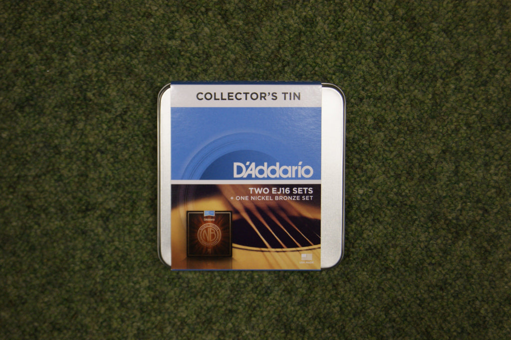 D'Addario EJ16 Collectors 3 string set tin 12-53