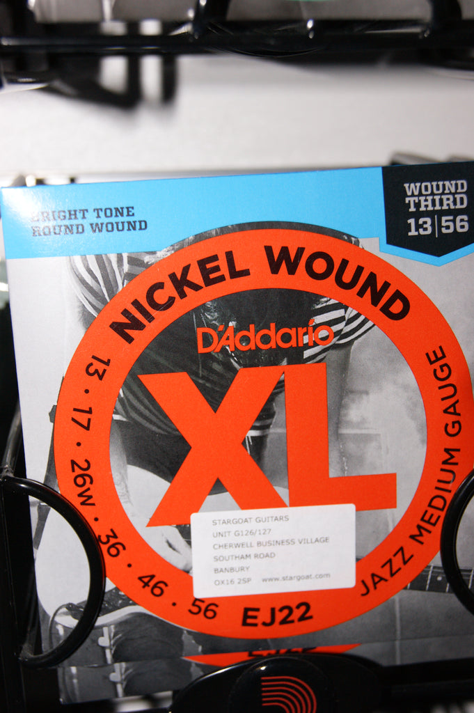 D'Addario EJ22 jazz medium gauge 13-56 electric guitar strings (3 PACKS)