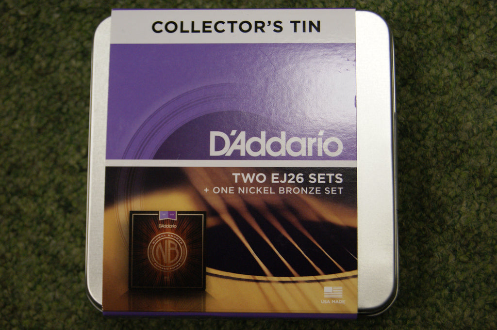 D'Addario EJ26 Collectors 3 string set tin 11-52