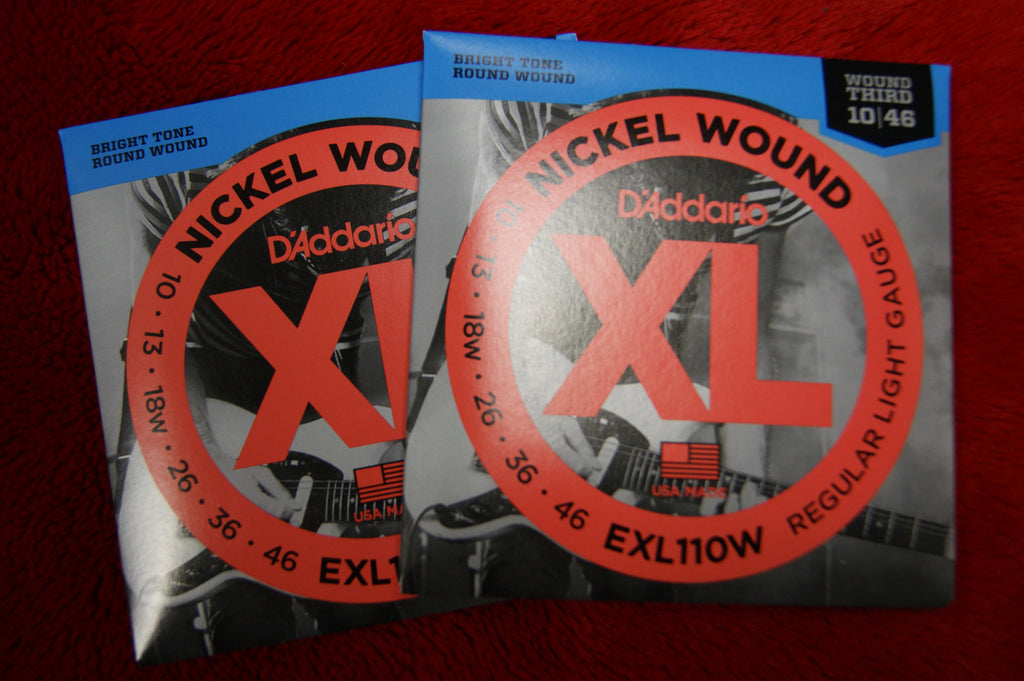 D'Addario EXL110W 10-46 gauge nickel wound strings (2 PACKS)