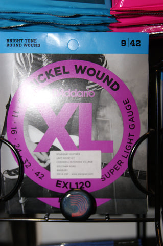 D'Addario EXL120 electric 9-42 gauge nickel wound guitar strings (2 PACKS)