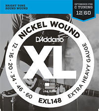 D'Addario EXL148 nickel wound 12-60 extra heavy gauge strings