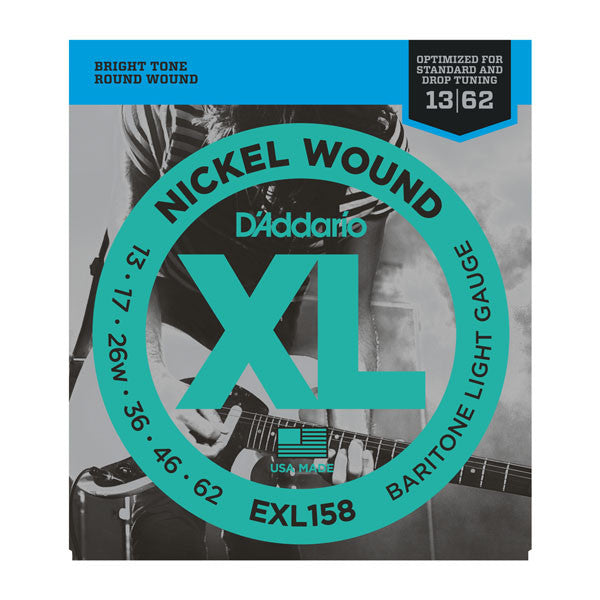D'Addario EXL158 baritone light electric guitar strings 13-62 (3 PACKS)