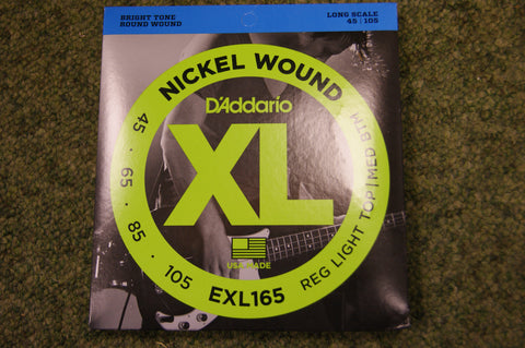 D'Addario EXL165 nickel wound long scale 45-105 bass guitar strings