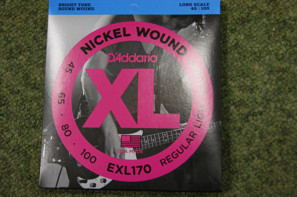 D'Addario EXL170 nickel wound 45-100 bass guitar strings