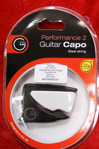 G7th Black Performance 2 capo for steel strung guitars