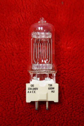 G E Showbiz T26 Quartzline halogen lamp 650w