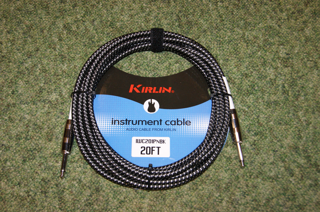 Guitar lead by Kirlin 20ft fabric black