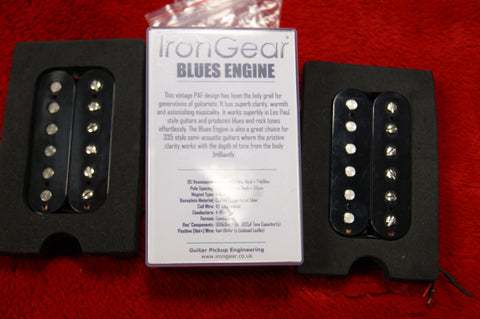 Iron Gear Blues Engine pickups in black S/H