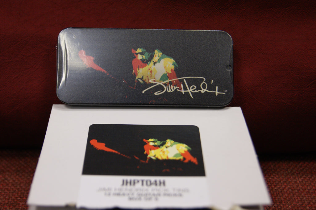 Dunlop Jimi Hendrix guitar picks and tin Band of Gypsys