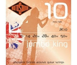 Rotosound JK10 acoustic guitar strings 10-50 extra light (2 PACKS)
