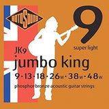 Rotosound JK9 acoustic guitar strings 9-48 super light (2 PACKS)