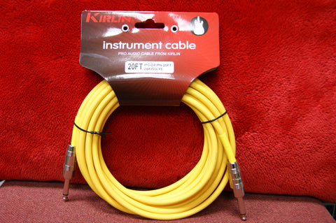 Kirlin 20ft instrument cable in yellow