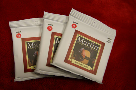 Martin M140 light acoustic guitar strings 80/20 bronze 12-54 (3 PACKS)