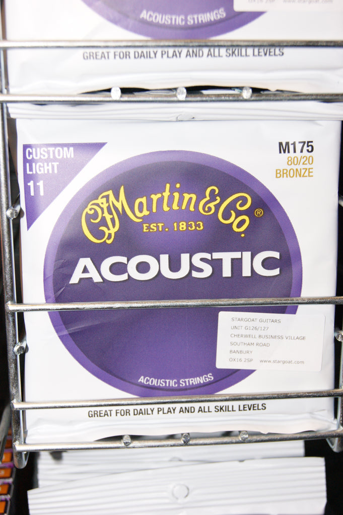 Martin M175 Custom Light Acoustic Guitar Strings 11 52