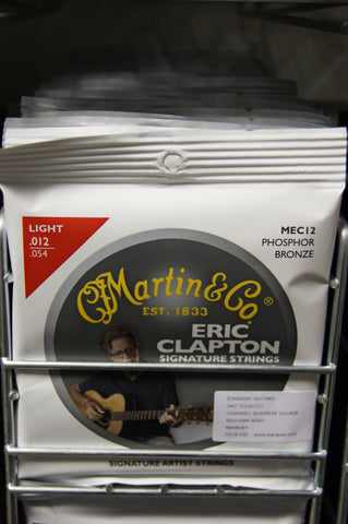 Martin MEC12 Claptons Choice acoustic guitar strings 12-54