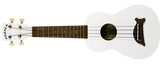 Ukulele by Makala in Pearl White with Dolphin bridge