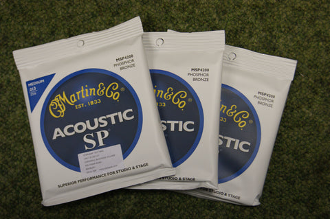 Martin MSP4200 Acoustic SP medium acoustic guitar strings 13-56 (3 PACKS)