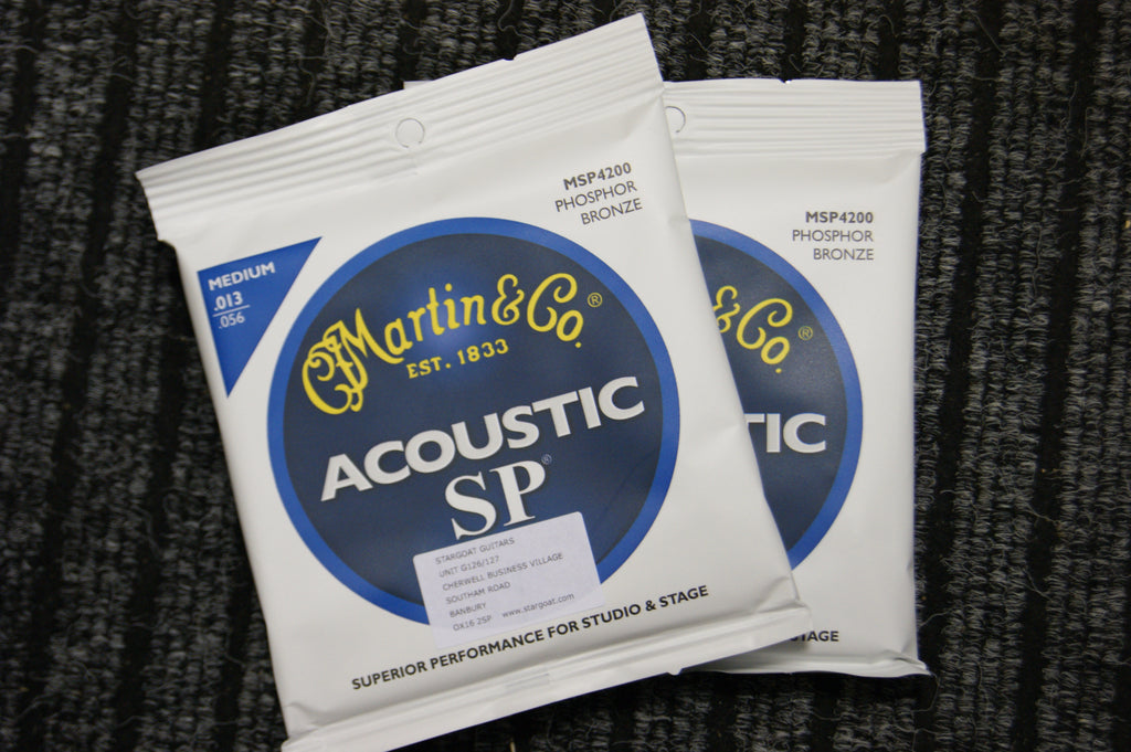 Martin MSP4200 Acoustic SP medium acoustic guitar strings 13-56 (2 PACKS)