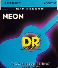 DR Neon NBA-11 blue coated acoustic guitar strings 11-50