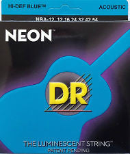 DR Neon NBA-12 blue coated acoustic guitar strings 12-54