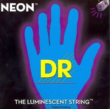 DR Neon NBB-40 blue luminous light bass guitar strings 40-100