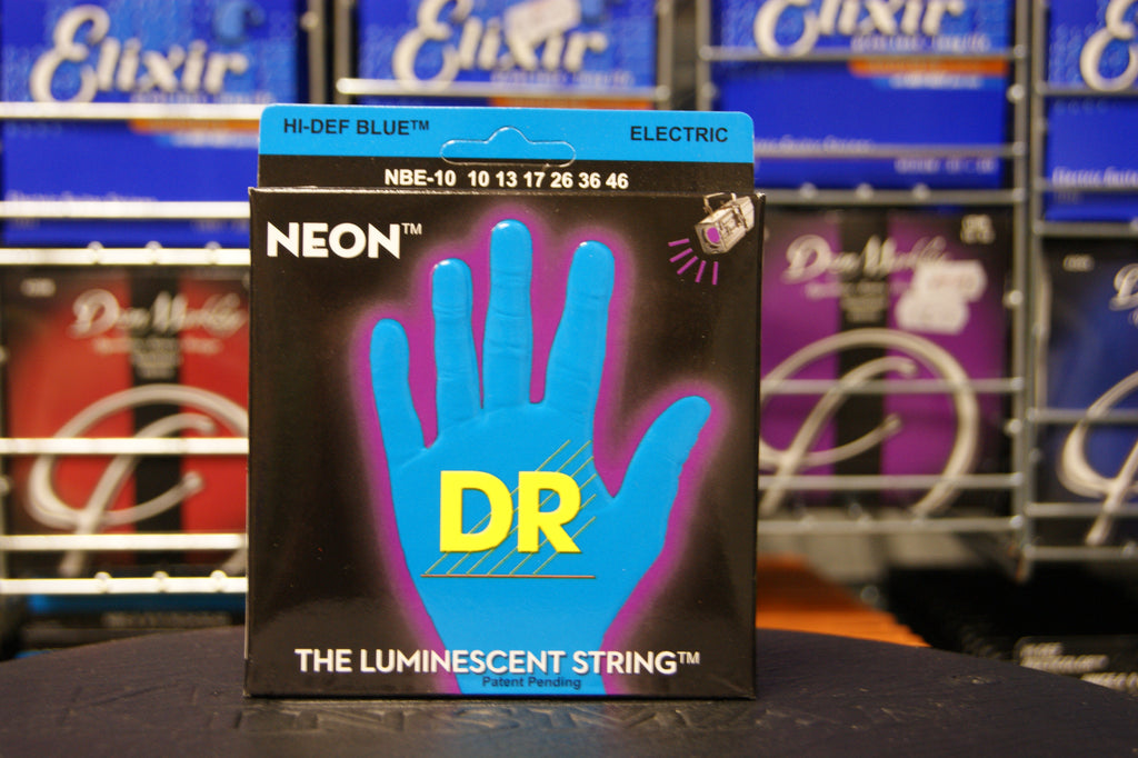 DR Neon NBE-10 blue coated electric guitar strings 10-46 (2 PACKS)