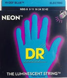DR Neon NBE-9 Blue coated electric guitar strings 9-42