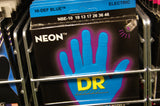 DR Neon NBE-10 blue coated 10-46 electric guitar strings