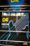 DR Neon NBE-11 blue coated electric guitar strings 11-50