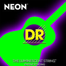 DR Neon NGA-11 green coated acoustic guitar strings 11-50