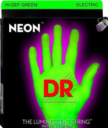 DR Neon NGB-40 green luminous light bass guitar strings 40-100
