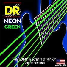 DR Neon NGE-10 Green coated electric guitar strings 10-46