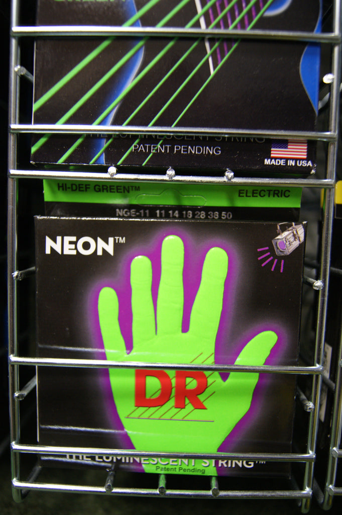 DR Neon NGE-11 green coated electric guitar strings 11-50