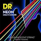 DR Neon NMCA-10 multi colour coated acoustic guitar strings 10-48