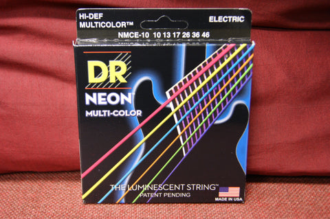 DR Neon NMCE-10 multi colour electric guitar strings 10-46