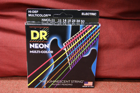 DR Neon NMCE-11 multi colour electric guitar strings 11-50