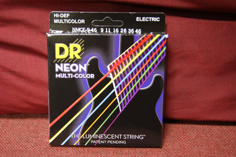DR Neon NMCE9-46 multi colour electric guitar strings 9-46